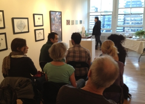 "during the exhibition ""Art and Architecture"" we hosted artist talks"