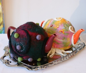 Teacosies made by instructor Natasha Henderson